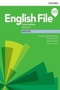 English File 4th edition Intermediate Workbook with Key