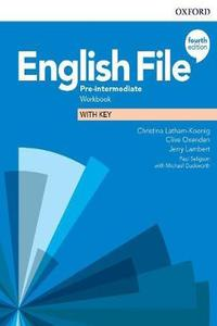 English File 4th edition Pre-Intermediate Workbook with Key